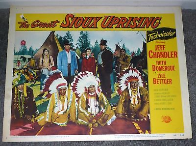 THE GREAT SIOUX UPRISING 11X14 JOHN WAR EAGLE orig 1953 lobby card movie poster