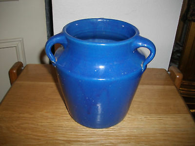 Arts-N-Crafts Blue Three Handled Ohio Art Pottery Vase