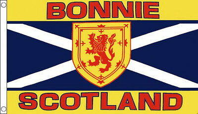 3' x 2' BONNIE SCOTLAND FLAG Scottish St Andrews Cross Lion Rampant Tartan Army