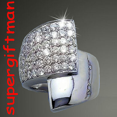 X736 - BAGUE ARGENT MASSIF  ring zilver DIAMANTS CZ T56