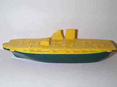 ELMAR 1950'S US NAVY AIR CRAFT CARRIER SHIP TOY BOAT HARD PLASTIC EXCELLENT COND
