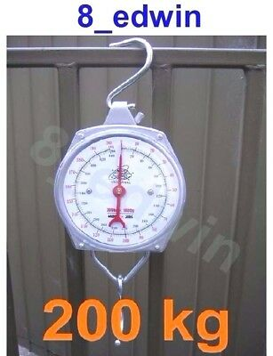 Quality Hanging Metalic Scale up to 200kg  (440 Ib) - Heavy Duty Farmers' Favor
