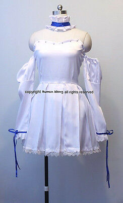 Chobits Chii Dress Cosplay White Dress Size M Human-Cos