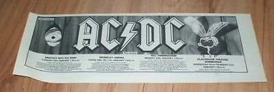 AC/DC-1985 magazine advert