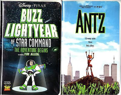 Buzz Lightyear of Star Command: The Adventure Begins (VHS, 2000) & Antz - 2 VHS