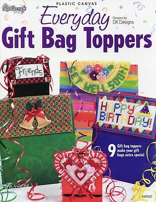 Everyday Gift Bag Toppers, Special Occasion Holidays plastic canvas pattern book