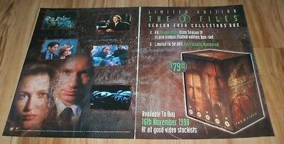 X Files tv series-1998 2 page magazine advert