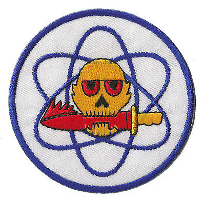 Patch brodé écusson patche atomic nucléaire Atome thermocollant