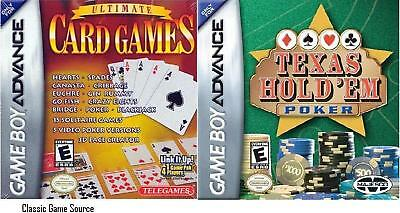 Ultimate Card Games & Texas Hold em Game Boy Advance