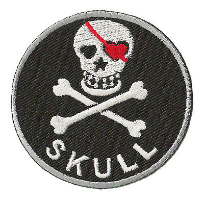 Patche écusson transfert Skull patch pirate brodé hotfix thermocollant