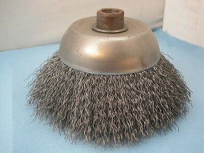 """6239 Wire Cup Brush 6"""" Diameter 5/8""""-11 Mount New"""