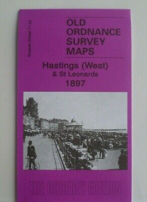 Old Ordnance Survey Maps Hastings West St Leonards Sussex 1908 Godfrey Edition