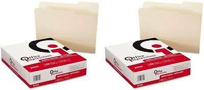 Office Impressions 11 Pt. Manila File Folders Letter Size 1/3 Tab 200 Pack - New