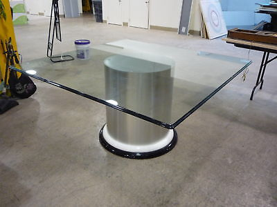 Vintage Chic Saporiti Aluminum & Lacquer Dining Table