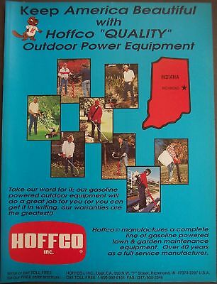 1991 HOFFCO Indiana Lawn & Garden Equipment vintage ad