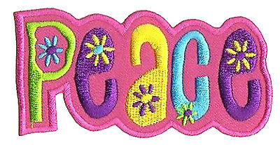 Patch écusson thermocollant patche Peace Paix hotfix transfert hippy hippie