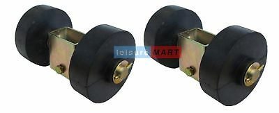 Trailer Single Side Roller Brackets and 2 Rollers Dumbbell Style Pair LMX1478