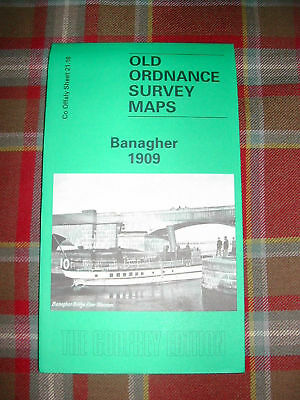 Old OS MAP Banagher Co Offaly 1909 Sheet 21.16 New