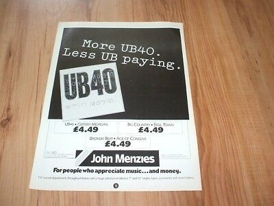 UB40-magazine advert
