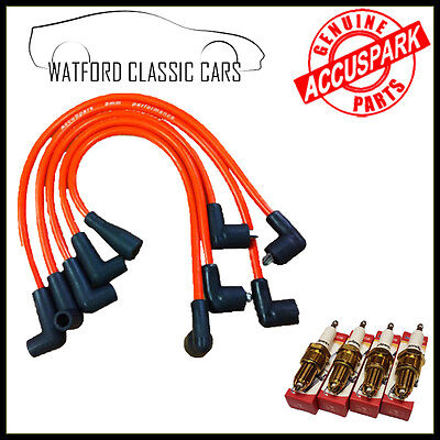 Accuspark Performance Red HT leads & a set of 4 3prong Spark Plugs for MGB GT