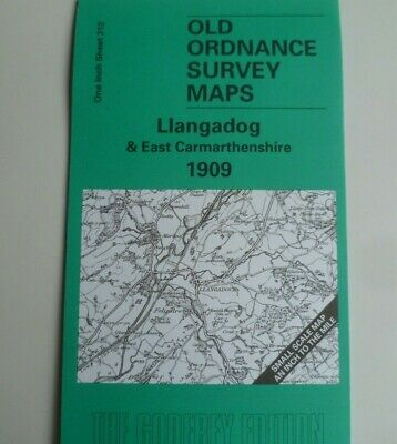 Old Ordnance Survey  MapS Llangadog Llandovery Llandeilo area 1909 Sheet 212