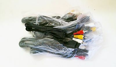 10 NEW Stereo AV Cables LOT Video Cord for PS1 PS2 PS3