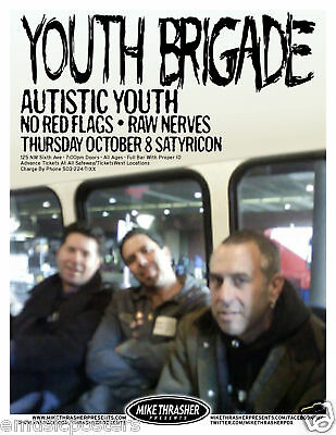 Youth Brigade 2009 Portland Concert Tour Poster- Punk