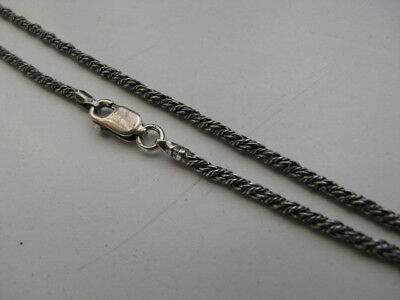 "18"" Sterling Silver 2mm Antique Oxidized Rope Chain"