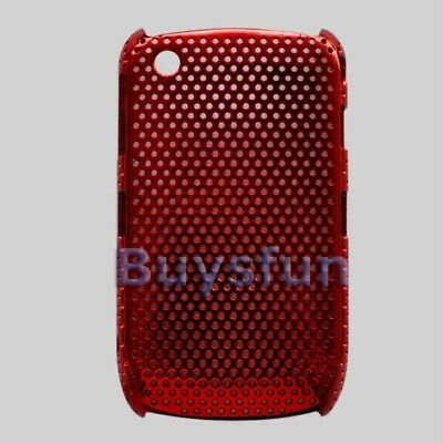 RED Metallic Hard Case COVER BLACKBERRY CURVE 8520 8530