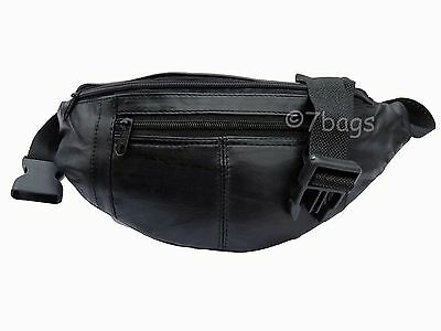 Real Leather Bumbag Soft Genuine Leather Bum Hip Bag Up to 44 Inch Bumbags RL140