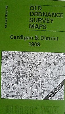 Old Ordnance Survey Maps Cardigan & District & Plan Llechryd 1909 Sheet 193 New
