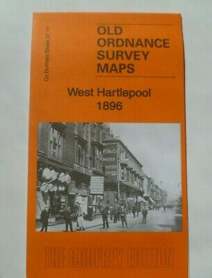 Old Ordnance Survey Detailed Map West Hartlepool Durham 1896 Godfrey Edition New