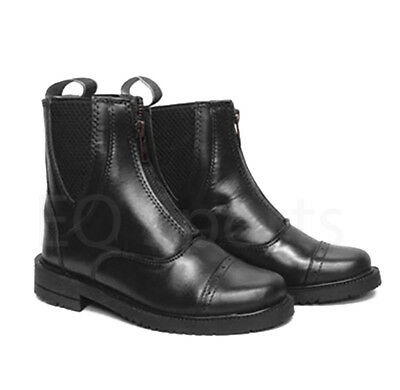 FAST SHIPPING Leather Zip Fronted Jodhpur Boots Black & Brown Sizes 1-10