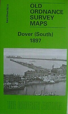 Old Ordnance Survey Detailed Maps Dover South Kent 1897 Godfrey Edition New