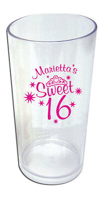 50 - 19oz Personalized Tumblers Sweet 16 Party Favors