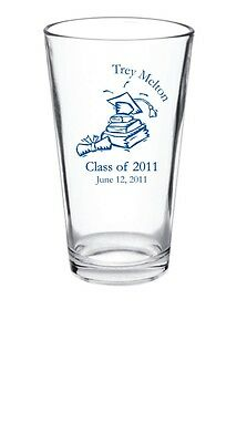 48 - 15oz Personalized Graduation Party Pint Pub Glass Favors