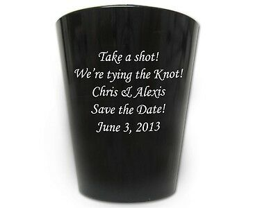 240 Custom Save the Date Wedding Shot Glasses