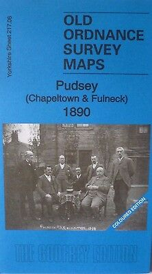 Old Ordnance Survey Maps Pudsey Chapeltown & Fulneck 1890 Col. Ed Sheet 217.06