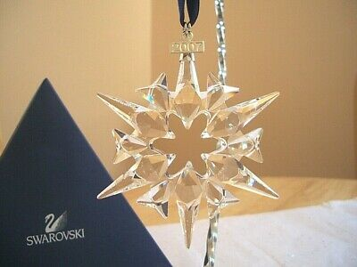 Swarovski Crystal 2007 Annual Snowflake Ornament Star