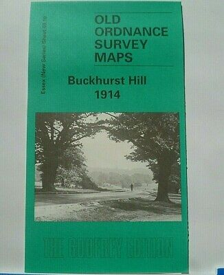 Old Ordnance Survey Maps Buckhurst Hill near Chingford Essex 1914 Godfrey Edit