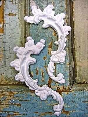 SHABBY n CHIC ARCHITECTURAL FLORALS ( 2 PC ) FURNITURE APPLIQUES