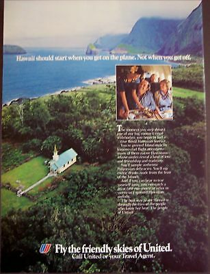 1982 United Airlines Royal Hawaiian Service vintage ad