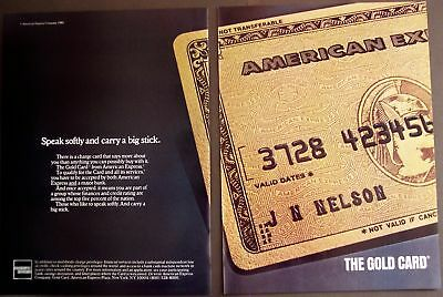 1982 AMEX speak softly & carry a big stick 2page Ad