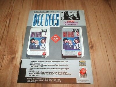 Bee Gees-magazine advert