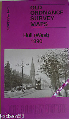 OLD ORDNANCE SURVEY MAP HULL WEST 1890 S240.02 Coloured Edition New