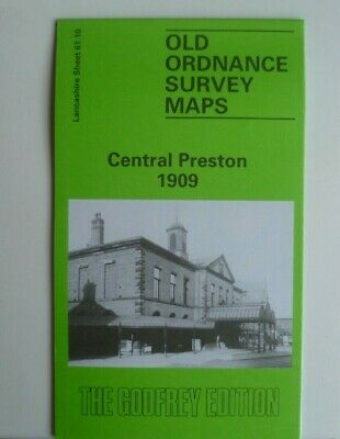 Old Ordnance Survey Maps Central Preston Lancashire 1909 Godfrey Edition Offer