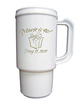 50 Personalized Birthday Party Travel Mug Favors