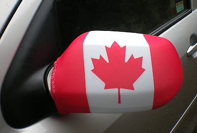 Car Wing Mirror Flags, Covers, Flag-Ups! - Canada
