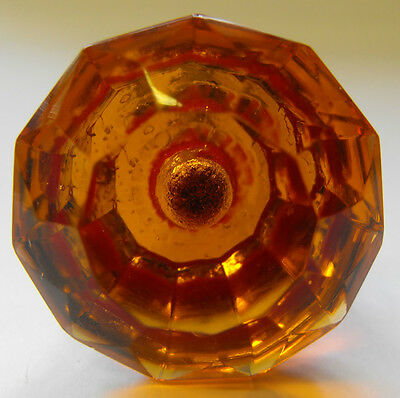 cabinet drawer handles furniture cupboard pulls (knobs) small amber cut glass