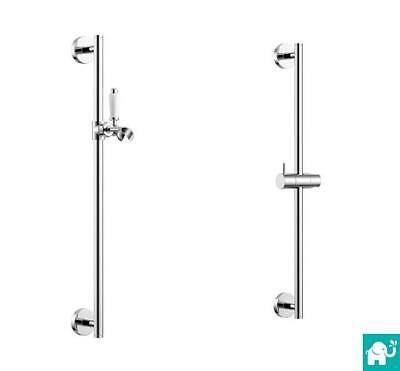 Chrome Shower Head Holder Riser Rail Bar Bracket Kit